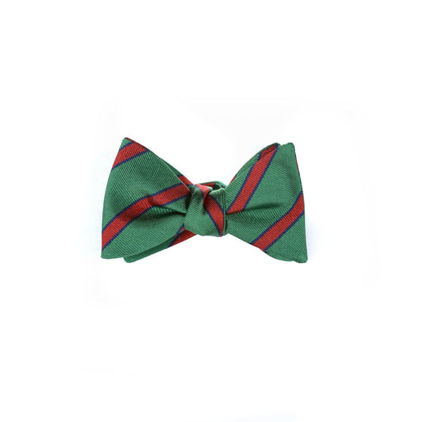 Wide Stripes - Woven Bow Tie