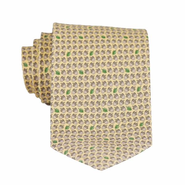 Acorns - Print Regular Tie