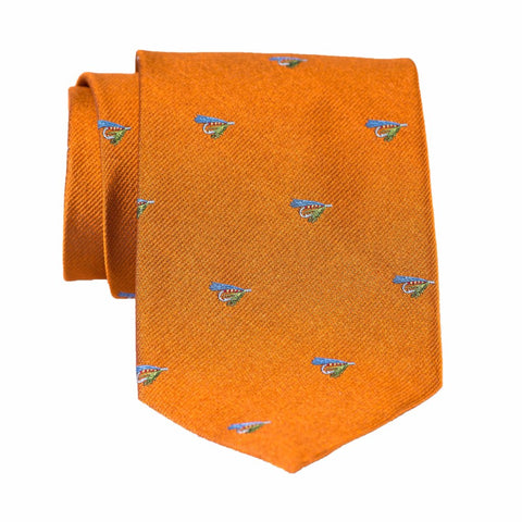 Fishing Fly - Woven Regular Tie