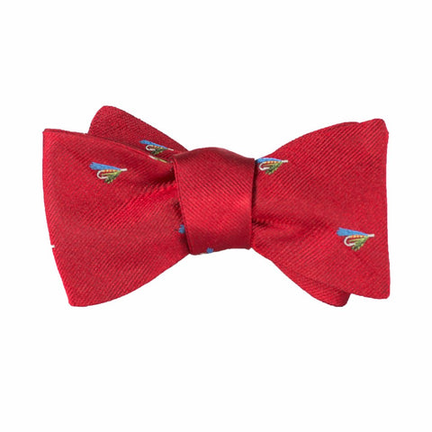Fishing Fly - Woven Bow Tie