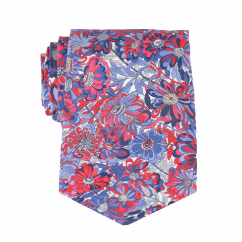 Liberty Prints 40 Red - Regular Tie