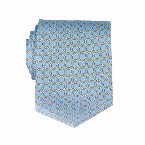 Linked Squares - Print Extra Long Tie