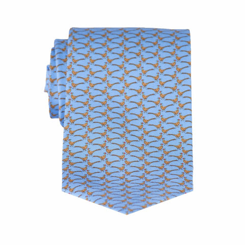 Pheasants - Print Extra Long Tie