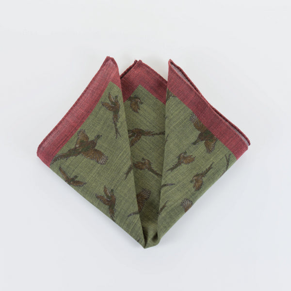 Pheasants - Pocket Square