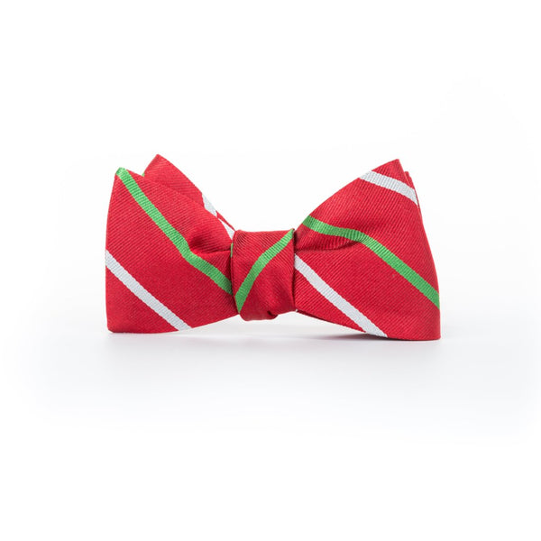 Christmas Stripes - Woven Bow Tie