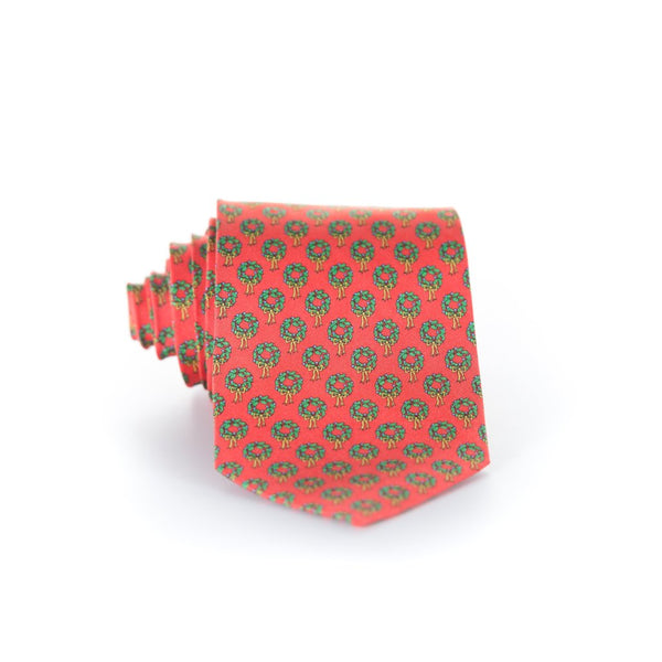Holiday Wreaths - Print Regular Tie