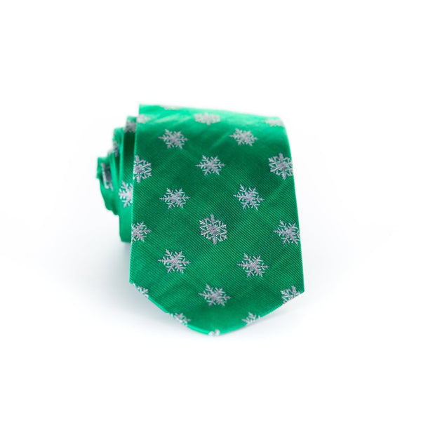 Snow Flakes - Woven Regular Tie