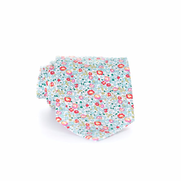 Liberty Prints 42 Aqua - Regular Tie