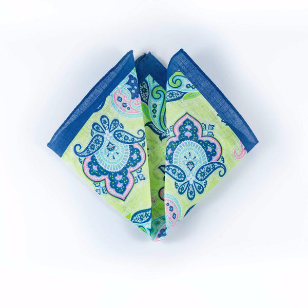 Paisley II Linen - Pocket Square