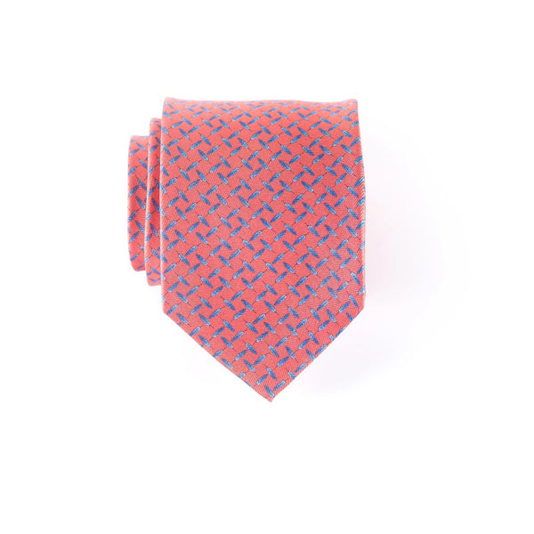 Feathers - Print Extra Long Tie