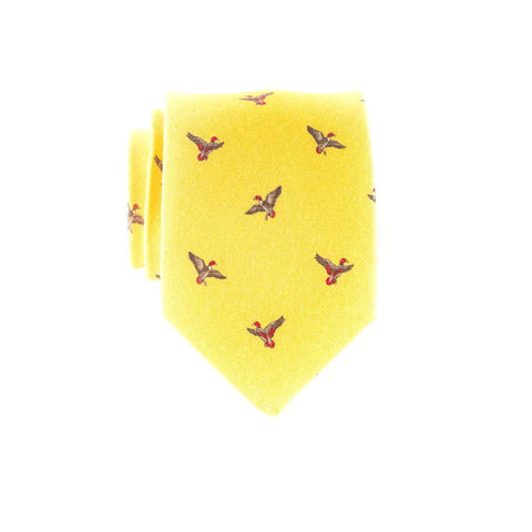Flying Mallards - Print Extra Long Tie