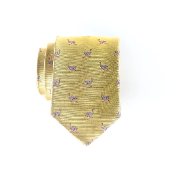 Ostrich- Woven Extra Long Tie