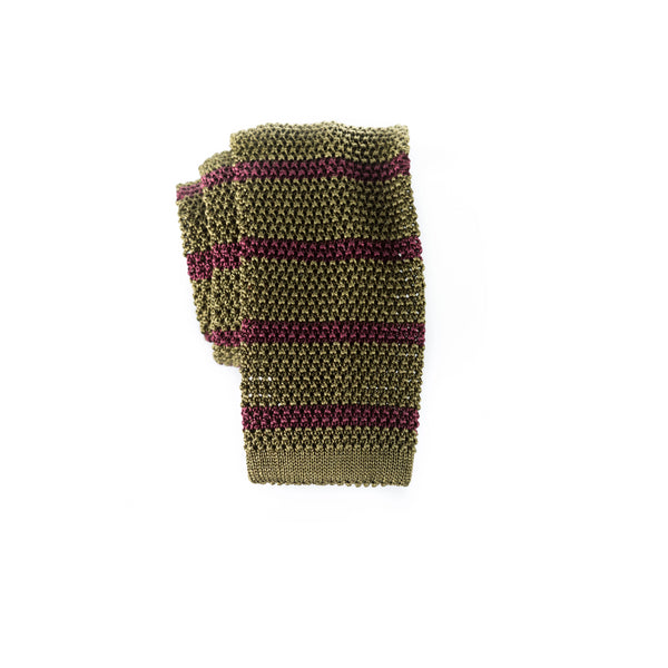 Striped - Knit Tie