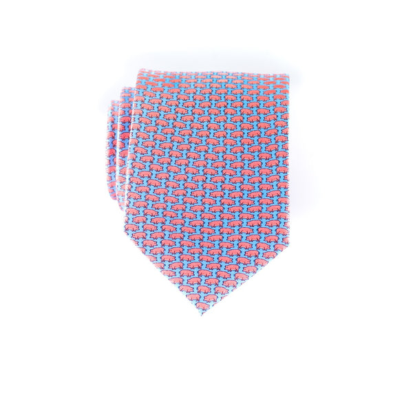 Tiny Swine- Print Boys Tie