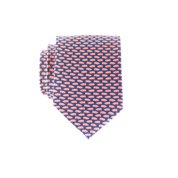 Tiny Swine- Print Regular Tie