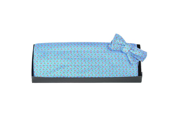 Vested Deer - Print Cummerbund Set
