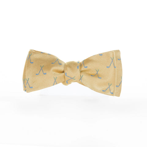 Golf Clubs - Woven Bow Tie