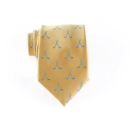 Golf Clubs - Woven Regular Tie