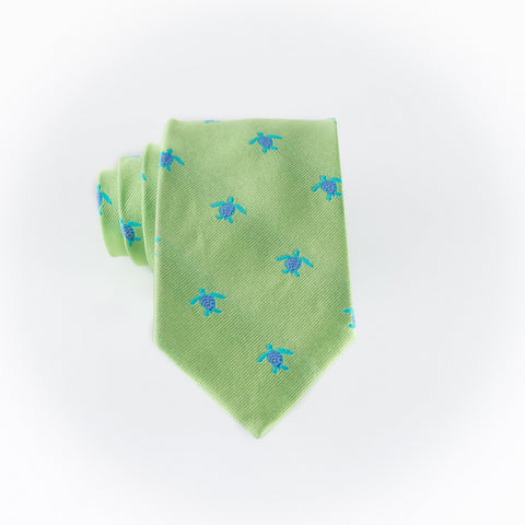 Turtles - Woven Extra Long Tie