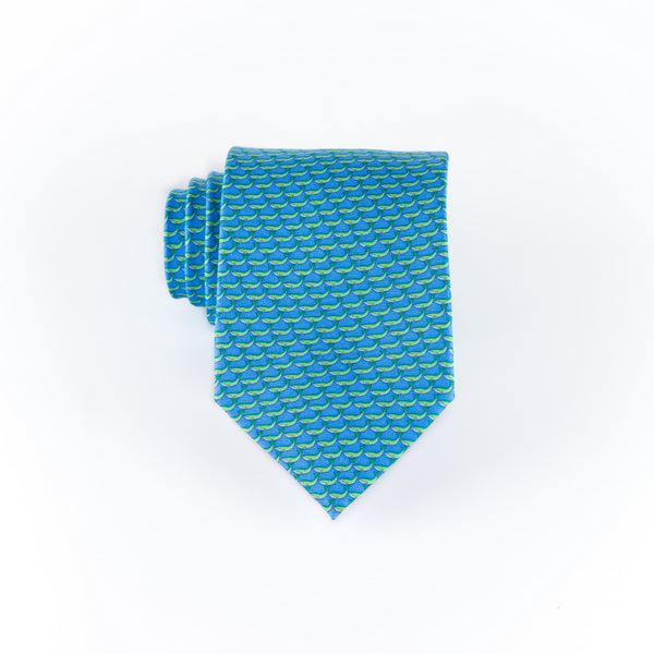 Whales - Print Extra Long Tie