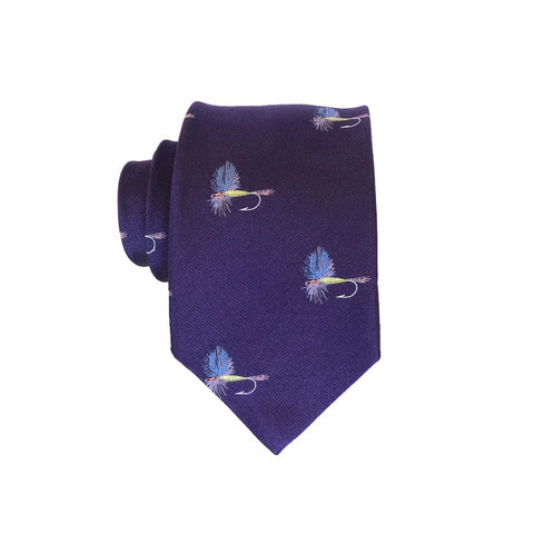 Fish Fly - Woven Extra Long Tie