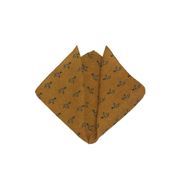 Herringbone Wool Pocket Square