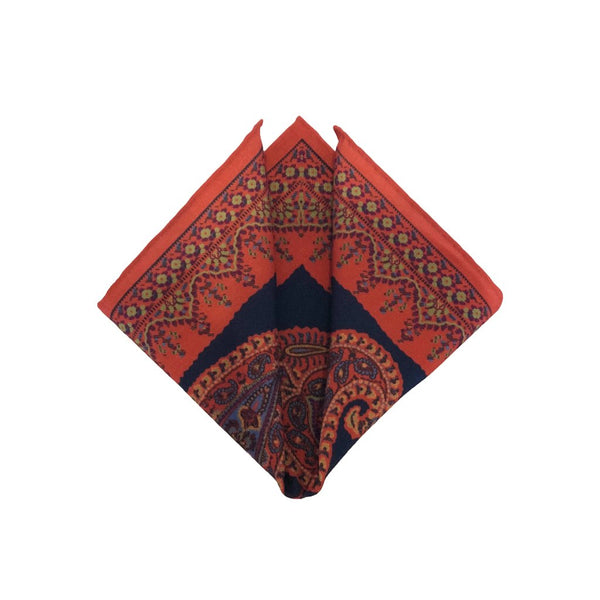 Hotchkiss Wool-Challis-Pocket Square