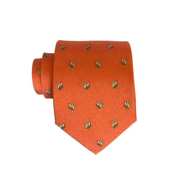 Rooster - Print Extra Long Tie