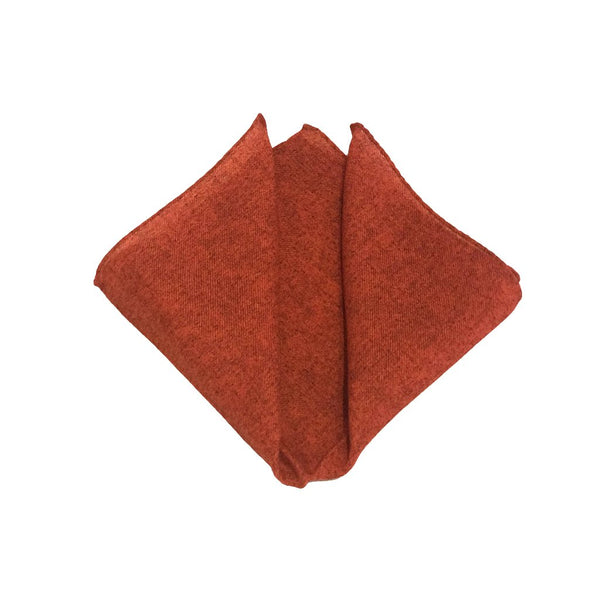 Solid Wool Pocket Square