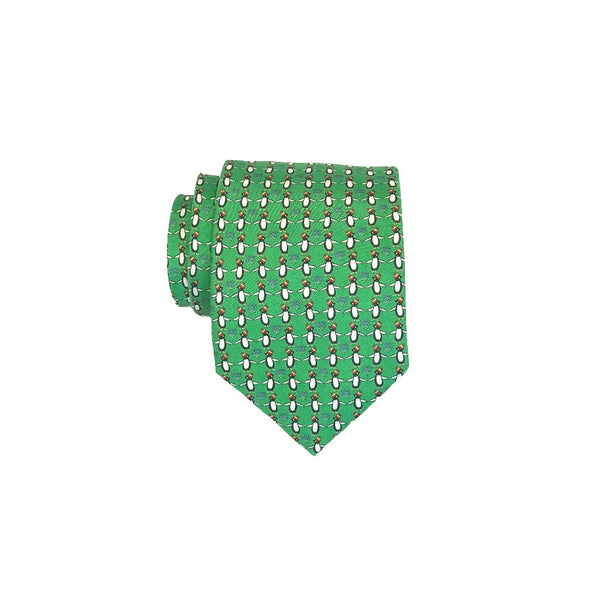 Misteltoe Penguins - Print Regular Tie