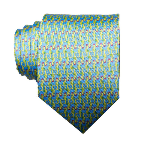 Sea Horses - Print Regular Tie