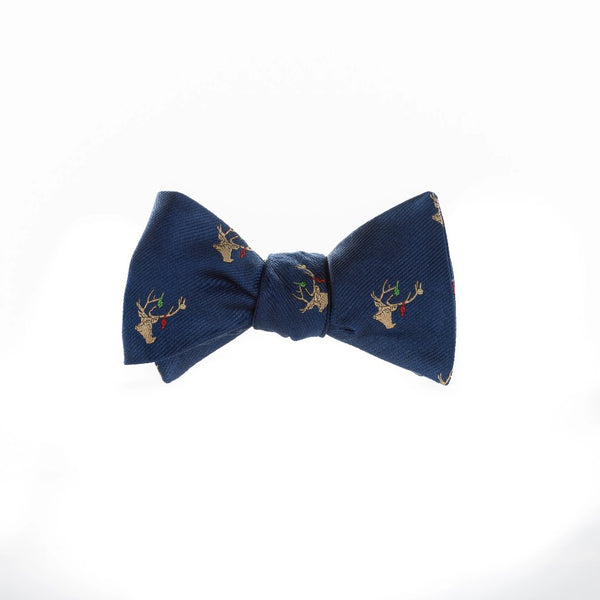 Decked Out Deer - Woven Bow Tie