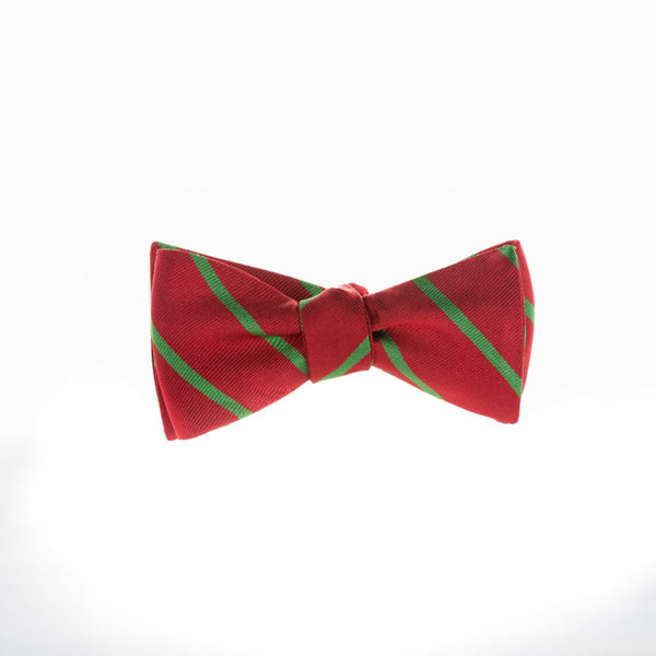 Single Stripe Xmas Repp - Woven Bow Tie