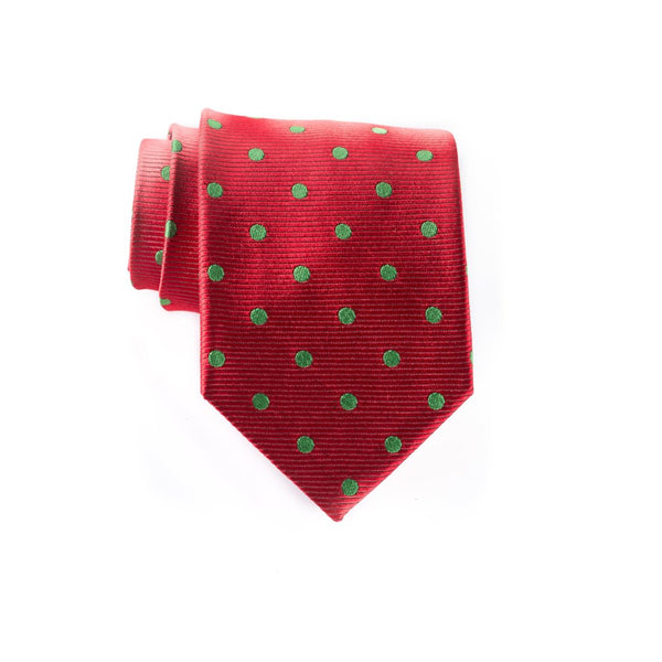 Large Xmas Dot - Woven Regular Tie