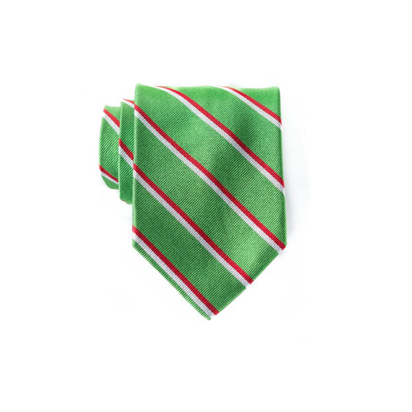 Double Stripe Xmas Repp - Woven Regular Tie