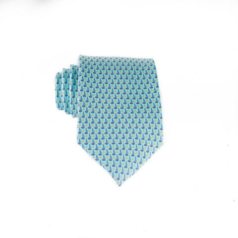Anchored In - Print Regular Tie