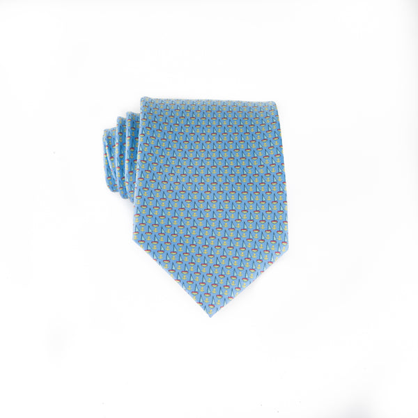 Anchored In - Print Boys Tie