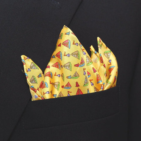 Sailboats & Buoys - Pocket Square