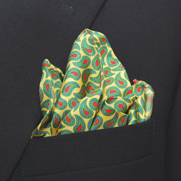 Dotted Paisley - Pocket Square