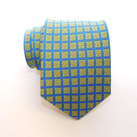 Flower Grid - Print Boys Tie