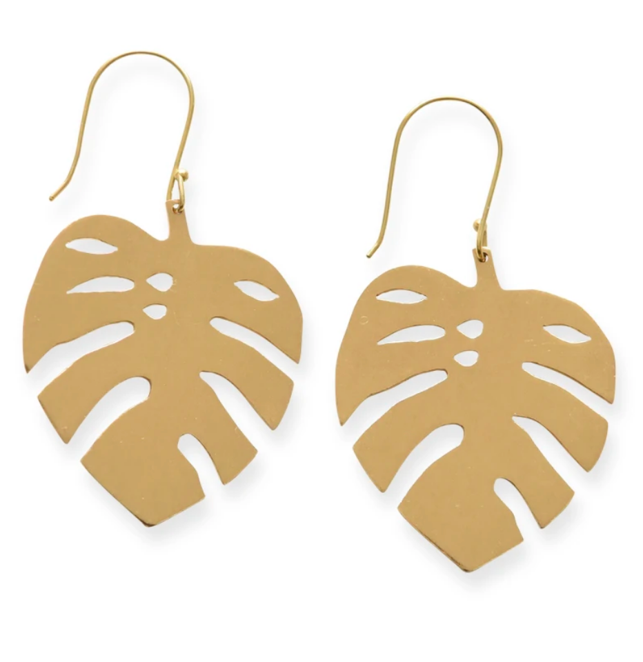 Monstera Leaf Earring