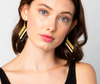 Luxe Diamond Earrings- Black/Gold/Ivory