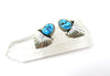 Sleeping Beauty Turquoise Shield Earrings - Wanderlust + Wildhearts