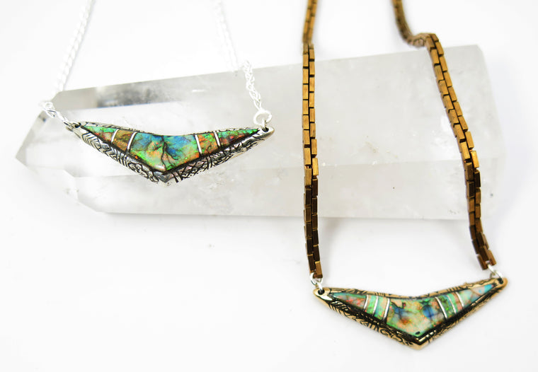 Chevron Inlay Pendant - Wanderlust + Wildhearts