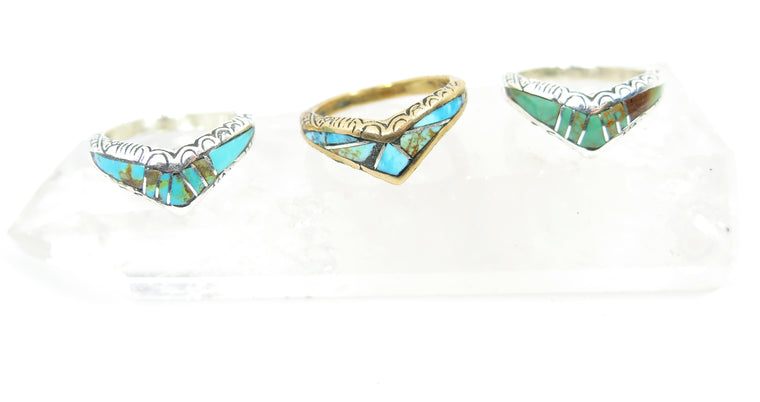 Chevron Inlay Ring - Wanderlust + Wildhearts