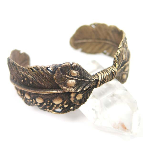 Cielo Layered Feather Cuff