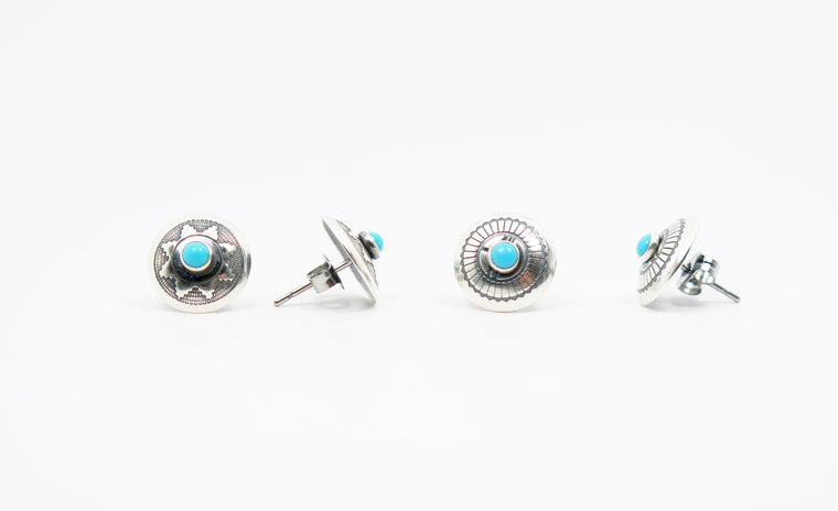 Navajo Concha Post Earrings - Wanderlust + Wildhearts