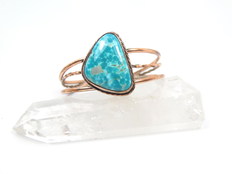 Tonopah Turquoise Copper Cuff - Wanderlust + Wildhearts