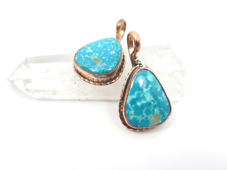 Tonopah Turquoise Copper Pendant - Wanderlust + Wildhearts