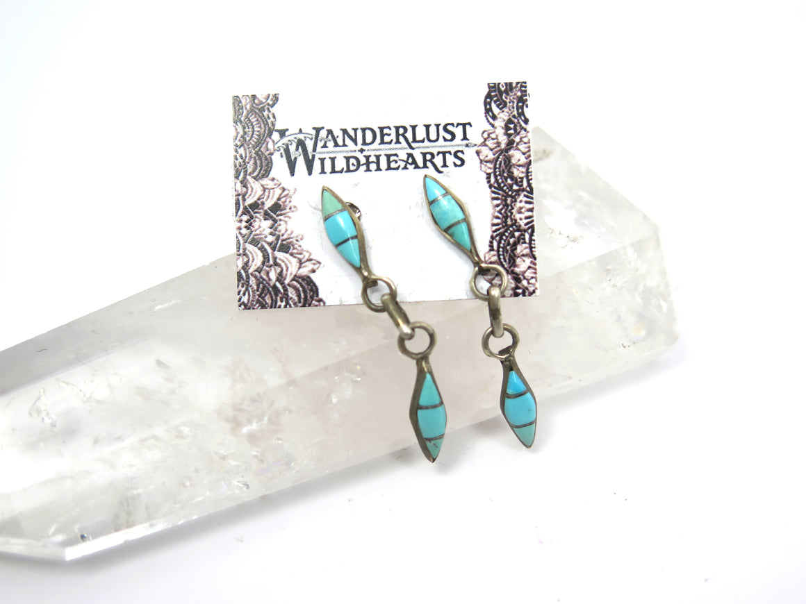 Petit Double Diamond Post Earrings - Wanderlust + Wildhearts